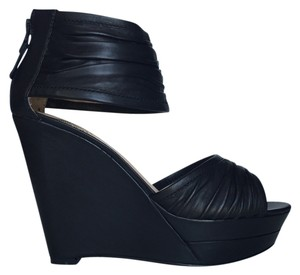 Modern Vintage Leather Black Sandals