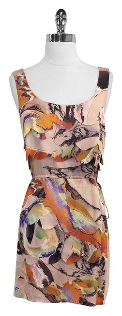 Ali Ro short dress Print Scalloped Sleeveless on Tradesy
