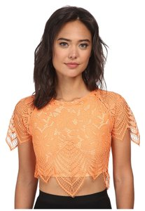 For Love & Lemons Luna Crop Top Tropical Orange