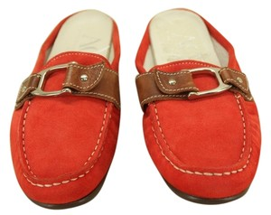 Attilio Giusti Leombruni red/orange Mules