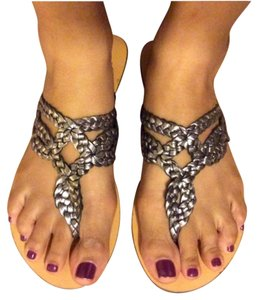 Urban Outfitters Silver Sandals