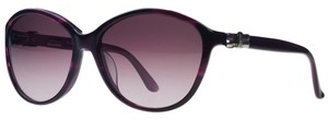 Salvatore Ferragamo Salvatore Ferragamo Striped Purple Round Sunglasses
