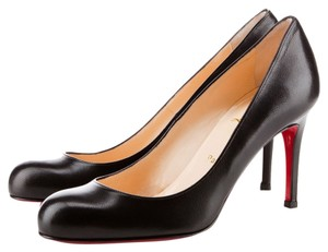 Christian Louboutin Leather Dressy Heels Black Pumps
