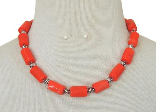 Other Handmade Coral Pink Beaded Necklace