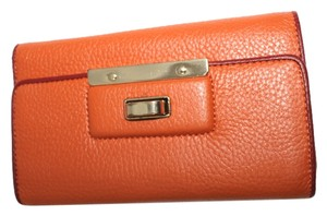 Banana Republic BANANA REPUBLIC TRI FOLD LEATHER ORANGE LONG WALLET
