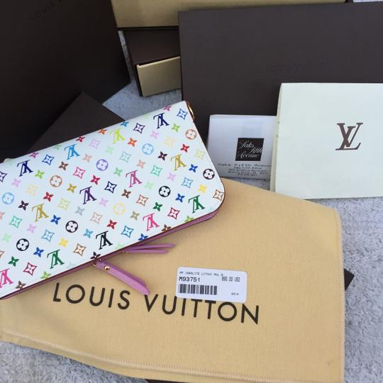 Louis Vuitton Louis Vuitton 2015 Multicolor / Multicolore White Litchi Insolite Wallet NEW Style # M93751