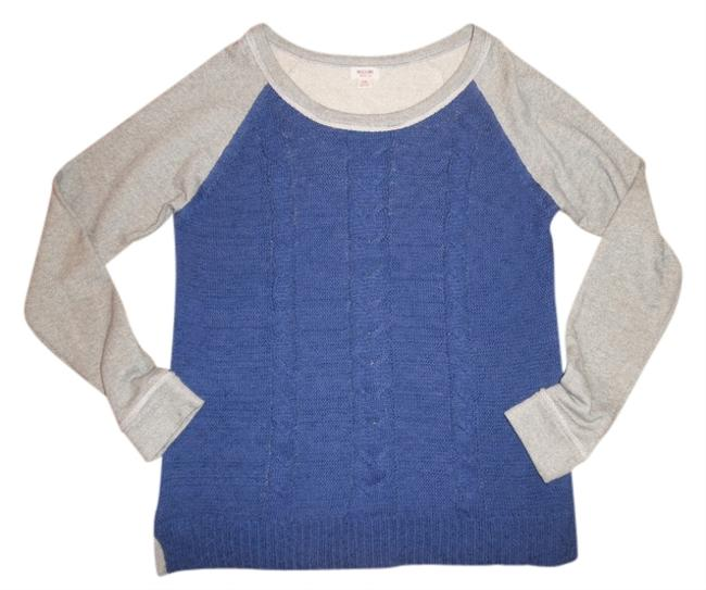 Preload https://img-static.tradesy.com/item/4924204/mossimo-supply-co-gray-blue-cable-knit-sweater-front-sweatshirthoodie-size-12-l-0-0-650-650.jpg