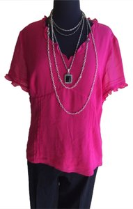 Ann Taylor Top Fuschia