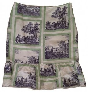 Nanette Lepore Skirt Tan with print