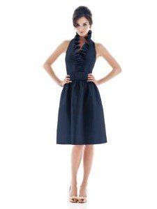 Alfred Sung Blue Silk Dupioni Style D468 Formal Bridesmaid/Mob Dress Size 6 (S)