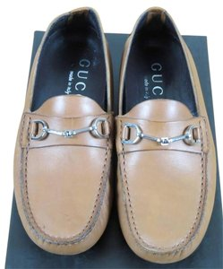 Gucci Saddle Tan Leather Flats