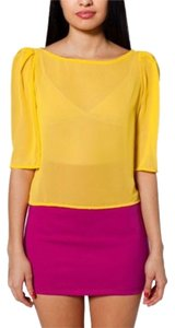 American Apparel Top Yellow