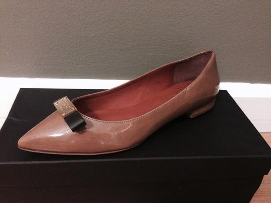 Marc by Marc Jacobs Patent Leather Dark Nude Flats