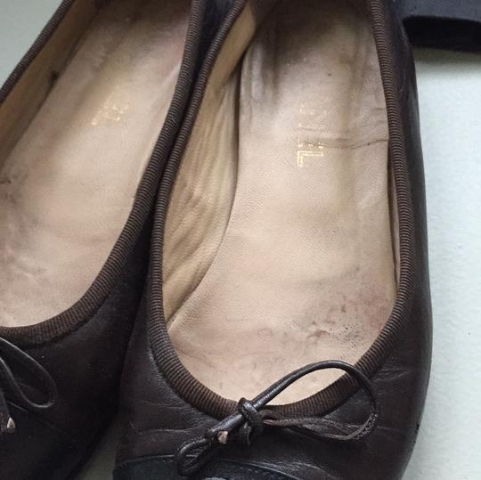 Chanel Brown black Flats