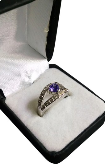 Preload https://item2.tradesy.com/images/purple-silver-amethyst-and-diamond-cocktail-ring-4939201-0-0.jpg?width=440&height=440