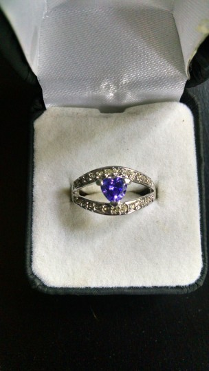 Other Amethyst and diamond cocktail ring