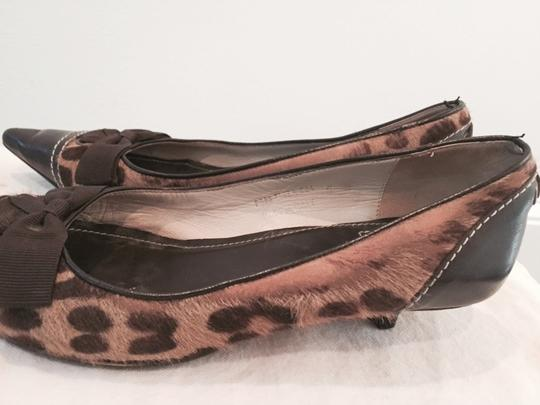 Kate Spade Camel/Brown Leopard Calf Hair Pumps