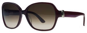 Salvatore Ferragamo Salvatore Ferragamo Crystal Red Square Sunglasses