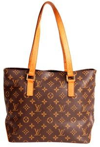 Louis Vuitton Monogram Cabas Piano Leather Neverfull Satchels Classic Tote in Brown