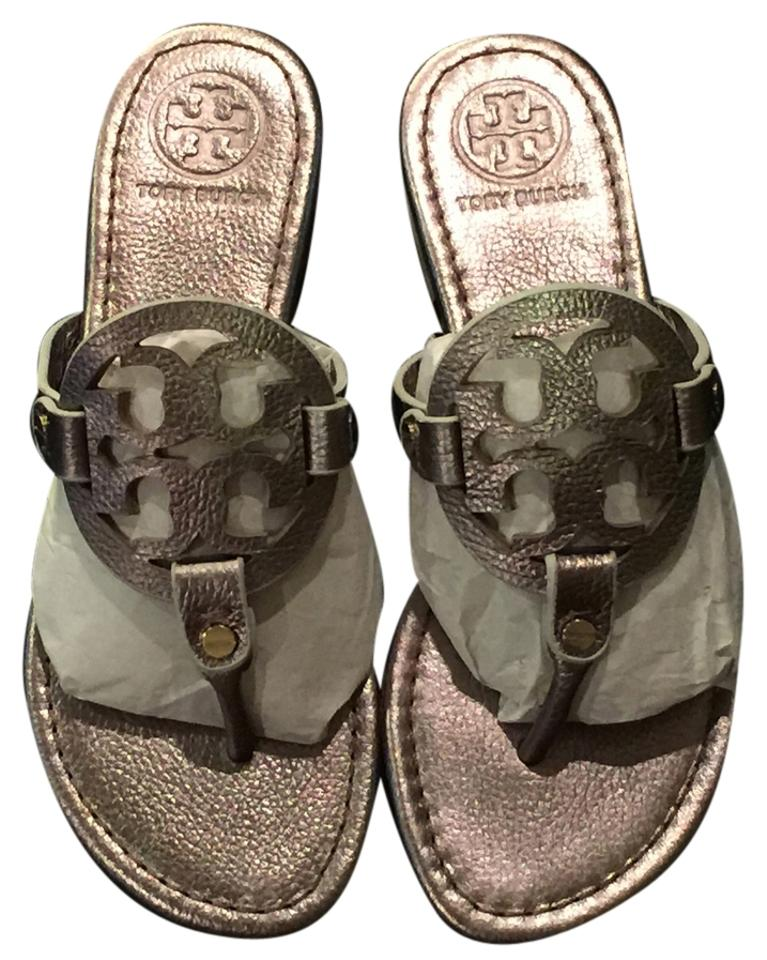 5533a210fbd5 Tory Burch Designer Sandals Thongs Metallic Flats Image 0 ...