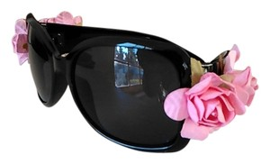 Tracey Vest Pink Rose Embellished Black Sunglasses