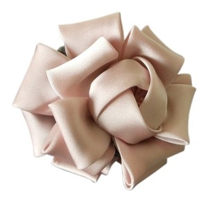 Pink/Rose Flower Fabric Satin Hair Claw/Clip