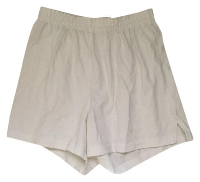 Soffe Lounge Casual White Shorts Image 0