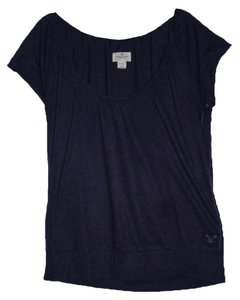 American Eagle Outfitters T Shirt Indigo Blue