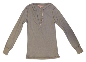 Other Henley Buttons Casual Top Brown