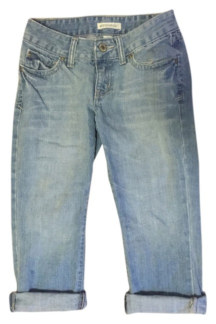 Aéropostale Capri/Cropped Denim-Medium Wash