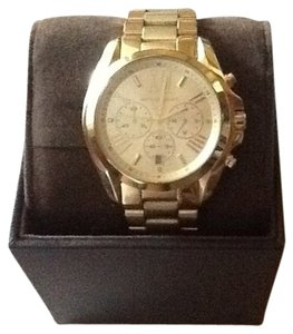 Michael Kors Micheal Kors Bradshaw Gold Tone chronograph watch 43 mm