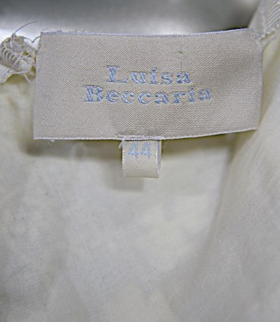 LUISA BECCARIA Skirt White Embroidered w/Lace Image 1