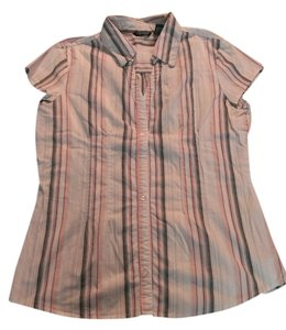 Maurices Button Down Shirt White, gray, pink, mint green