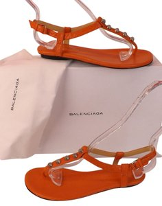 Balenciaga Orange Sandals