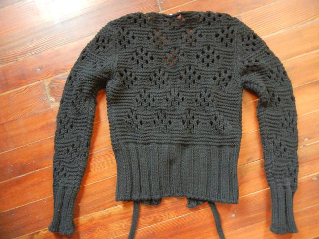 LF Cropped Knit Cardigan Front Closure V-neck Embellished With Coins Sweater Image 1