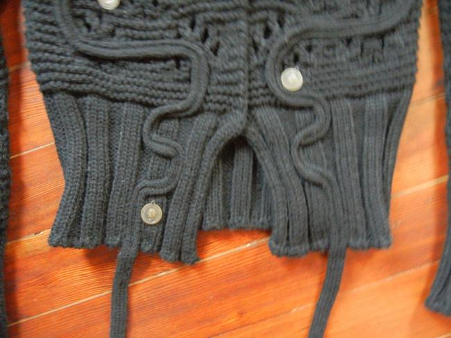 LF Cropped Knit Cardigan Front Closure V-neck Embellished With Coins Sweater Image 3