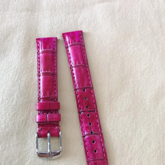 Michele Size 16mm NWT Michele Sea Pink Alligator Watch Straps MS16AA510517 Image 1