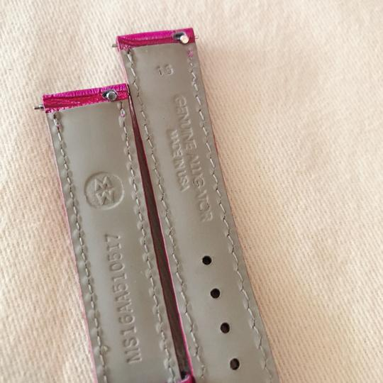 Michele Size 16mm NWT Michele Sea Pink Alligator Watch Straps MS16AA510517 Image 6