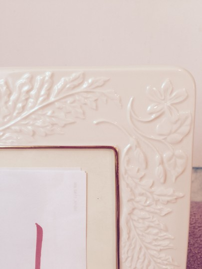 Ivory with Gold Trim New: Perfect Condition-- Lenox Picture Photo Frame