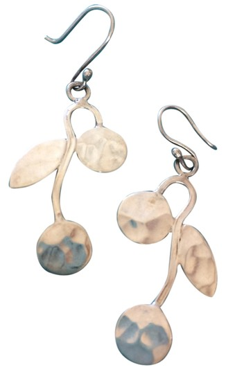Other Hammered Silver Cherry Earrings