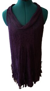 Rebecca Taylor short dress purple Silk Liner Slip Shift Sleeveless Scoop Neck on Tradesy