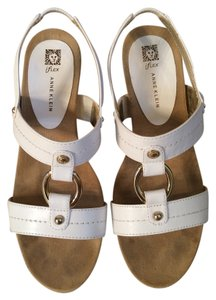 Anne Klein Sandal Iflex White Wedges