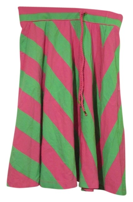 Lilly Pulitzer Mini Skirt GREEN AND PINK