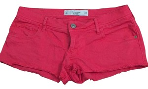 Abercrombie & Fitch Cut Off Shorts Red