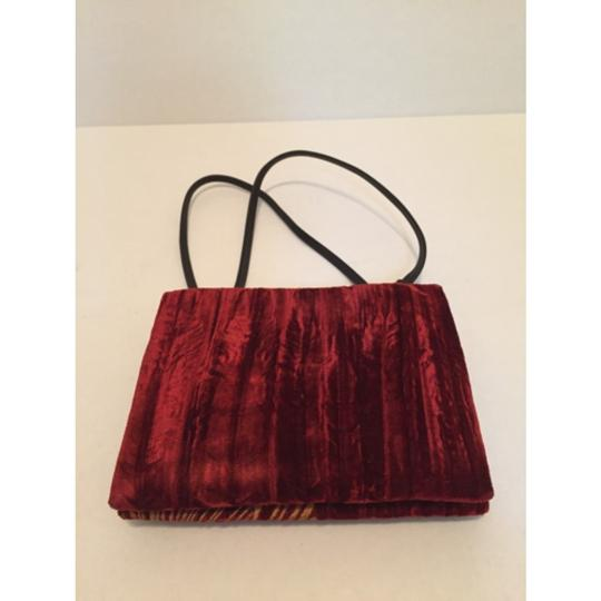 DKNY Dark Red Clutch Image 1