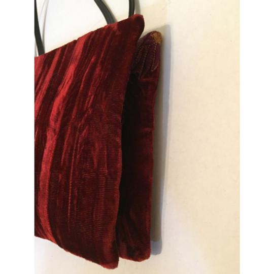 DKNY Dark Red Clutch Image 4