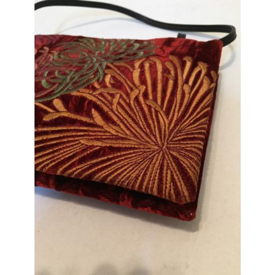 DKNY Dark Red Clutch Image 5
