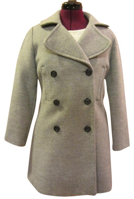 Gap European Wool Double-breasted Cinched Back Pea Coat