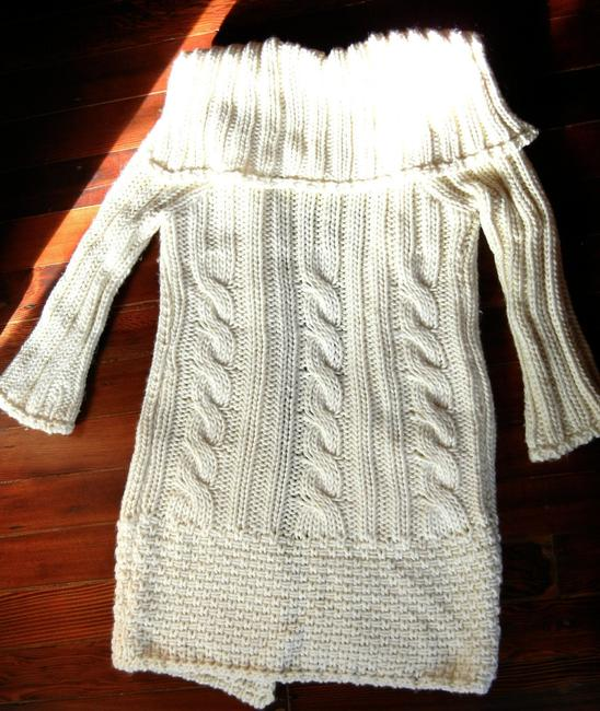 LF Fly Away Knit Long Cardigan Wide Collar Bell Sleeves Sweater