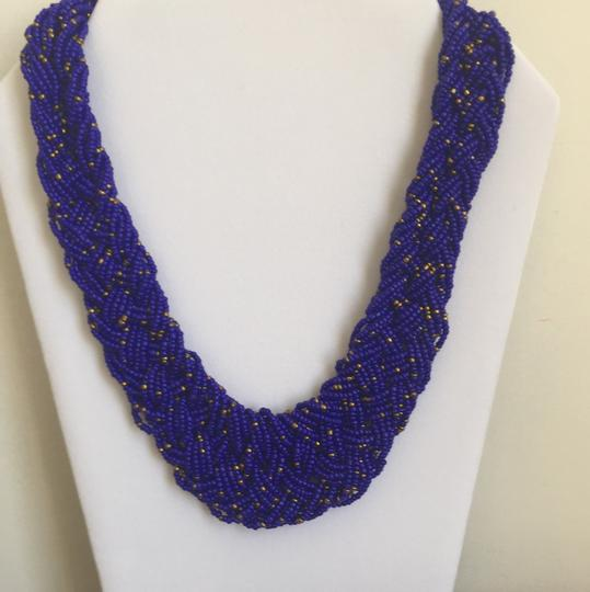 STR Beaded Statement necklace in Blue